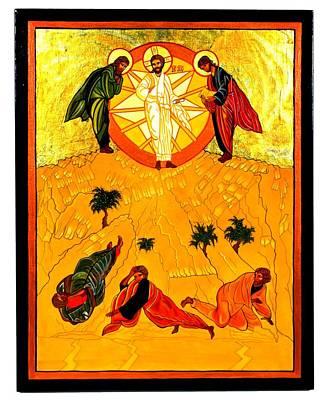 Transfiguration Painting - Transfiguration Of Jesus by Gail Schimberg