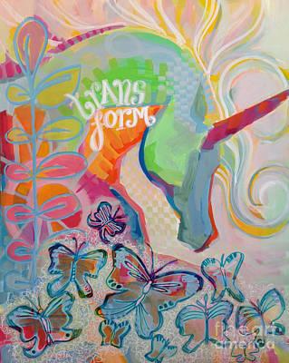 Unicorn Painting - Transform by Kimberly Santini