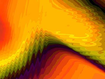 Vibrating Digital Art - Transformation 2 by Tom Druin