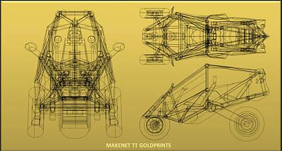 Transformer Transporter Gold Print Original by Chris  Morton