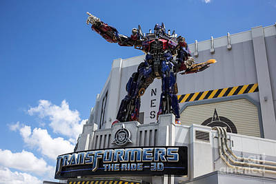 Transformers The Ride 3d Universal Studios Print by Edward Fielding