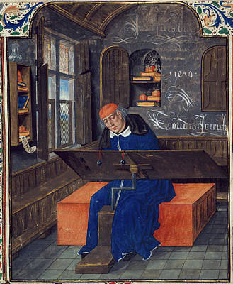 Translator At Work In His Study Print by British Library