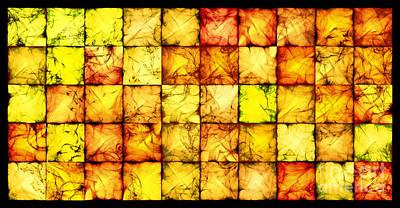 Algorithmic Digital Art - Translucent Amber Bricks by Sander Kleynend