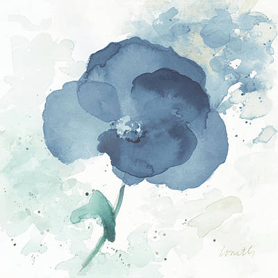 Translucent Painting - Translucent Blue Poppy I by Lanie Loreth