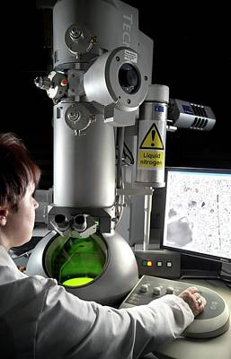 Transmission Electron Microscopy Print by Crown Copyright/health & Safety Laboratory Science Photo Library