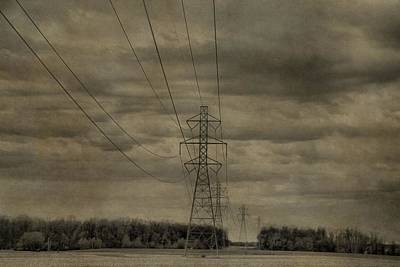 Transmission Towers Print by Dan Sproul