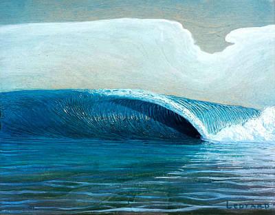 Transparent Sea Print by Nathan Ledyard