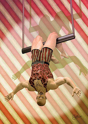 Buy Digital Art - Trapeze Artist  by Quim Abella