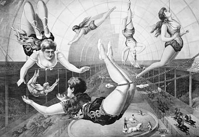 Trapeze Artist Painting - Trapeze Artists, 1890 by Granger