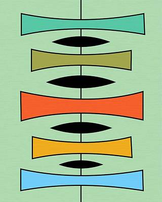 Trapezoids 2 Print by Donna Mibus