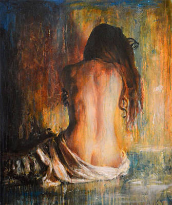 Portraits Painting - Trasformazione by Escha Van den bogerd