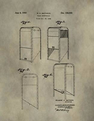 Trash Receptacle Patent Print by Dan Sproul