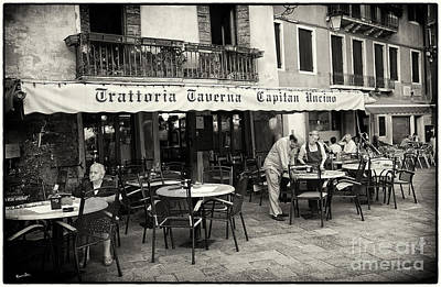 European Cafe Photograph - Trattoria In Venice  by Madeline Ellis
