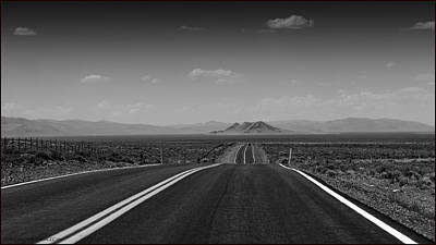 Nevada Photograph - Traveling Down The Road Into The Mountains by LeeAnn McLaneGoetz McLaneGoetzStudioLLCcom