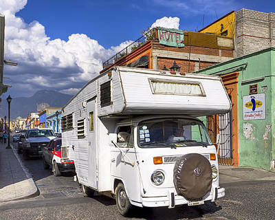 Vw Camper Van Photograph - Travels With Charley In Mexico by Mark E Tisdale