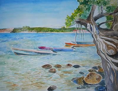 Jamaican Art Painting - Treasure Beach Boats II by Wandeka Gayle