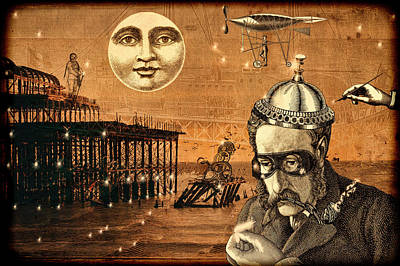 Collage Mixed Media - Treasure Steampunk by Bellesouth Studio