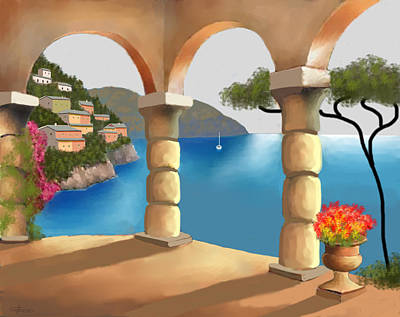 Treasures Of Amalfi Print by Larry Cirigliano
