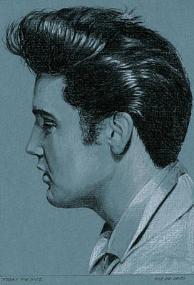 Singer Drawing - Treat Me Nice by Rob De Vries