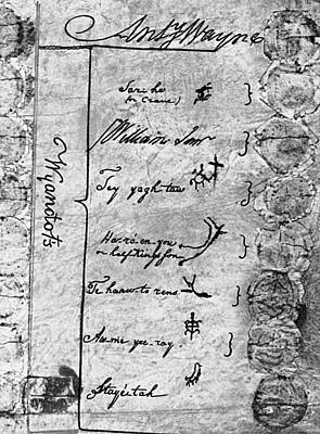 Autograph Painting - Treaty Of Greenville, 1795 by Granger
