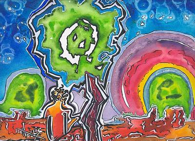 Painting - Tree-and-man by Gayla Abel Hollis