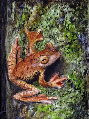 Spring Peepers Painting - Tree Clinger by Ryan Lamoureux