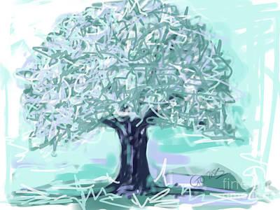 Colorful Art Digital Art - Tree Green by Go Van Kampen