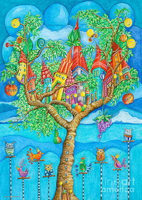 Crafts For Kids Painting - Tree House by Sonja Mengkowski