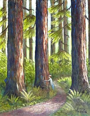 Tree Hug Print by Kenny Henson