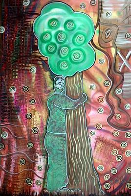 Tree Hugger Print by Laura Barbosa