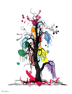 Soft Digital Art - Tree by Mark Ashkenazi
