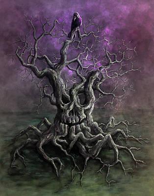 Spooky Digital Art - Tree Of Death by Rob Carlos