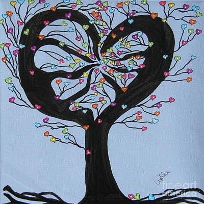 Tree Of Hearts Print by Marcia Weller-Wenbert