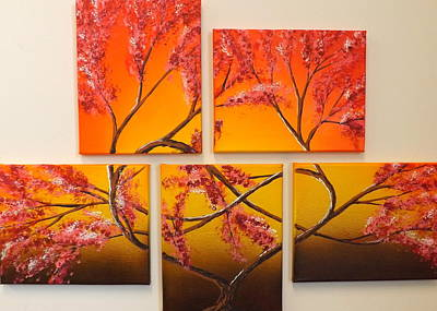 Burnt Umber Painting - Tree Of Infinite Love by Darren Robinson