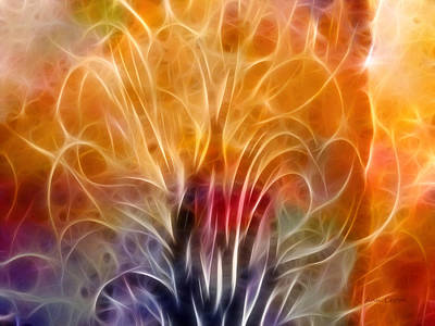 Colorful Abstract Digital Art - Tree Of Life by Ann Croon