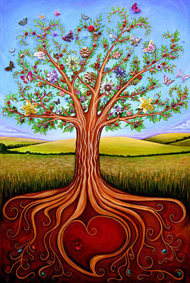 Root Of Mixed Media - The Tree Of Life by Claire Johnson