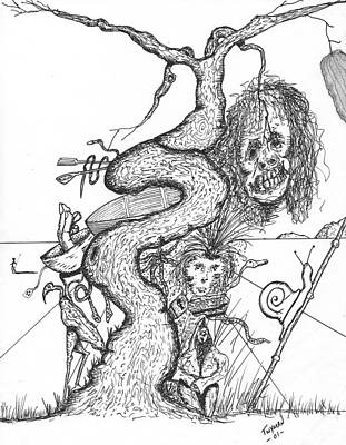 Hands Drawing - Tree Of Life by Dan Twyman