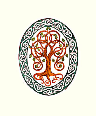 Celtic Tree Of Life Painting - Tree Of Life by Ellen Starr