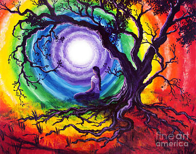Tree Of Life Meditation Print by Laura Iverson
