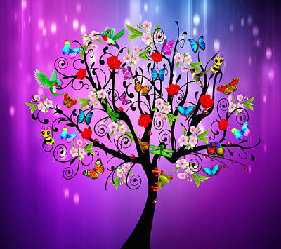 Mixed Media - Tree Of Life by Steven Peters