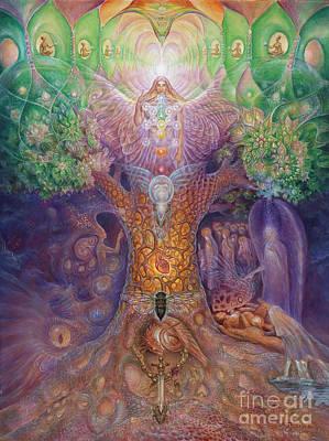 Cosmic Painting - Tree Of Life by Tatiana Kiselyova
