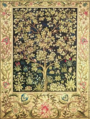 19th Century Painting - Tree Of Life by William Morris