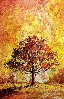 Rice-paper Painting - Tree On Fire by Ryan Fox