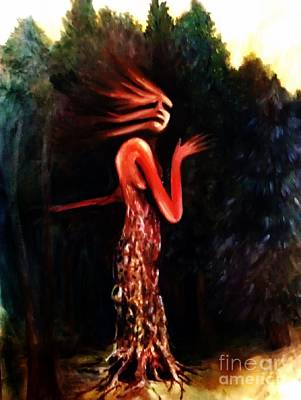 Morph Painting - Tree Person by Kayla Giampaolo