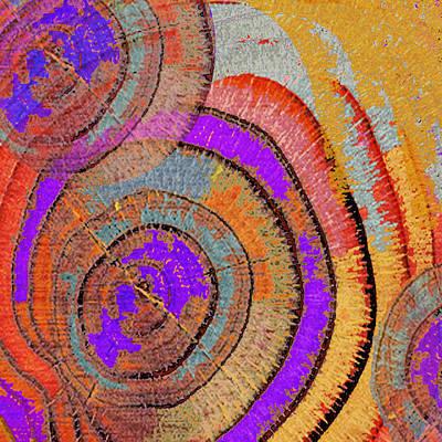 Tree Ring Abstract Print by Tony Rubino
