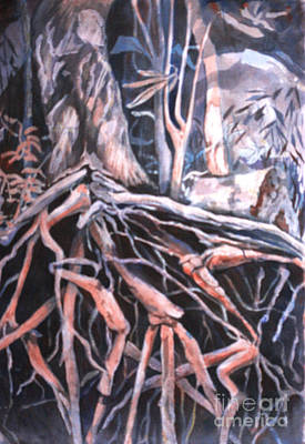 Tree Roots Print by Janet Felts