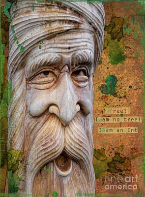 Handcrafted Mixed Media - Treebeard by Gillian Singleton