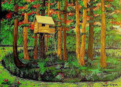 Treehouse Painting - Treehouse 2 by Randall Weidner