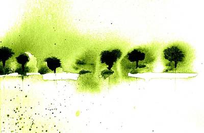 Trees Print by Agnes Trachet