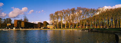 Trees Along A Lake, Chateau De Print by Panoramic Images
